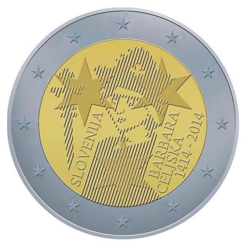 2 euro slowenien 2014 600 jahrestag der kr nung von for Wohnlandschaft 600 euro