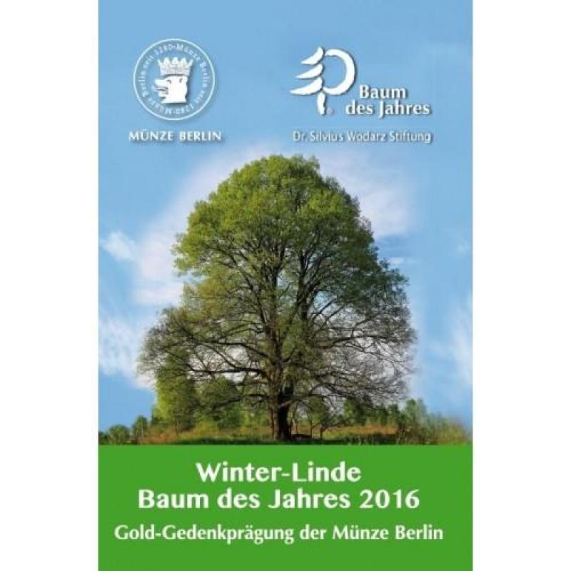 2 g gold winterlinde baum des jahres m nze berlin 2016. Black Bedroom Furniture Sets. Home Design Ideas