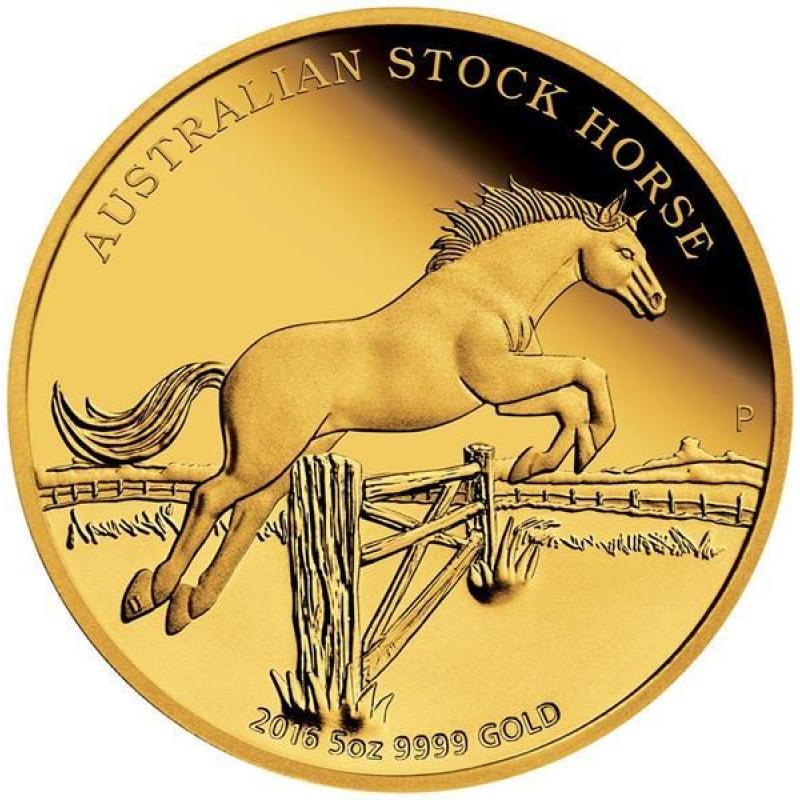 Unze gold australian stock horse 2016 australien 500 aud proof 8 4