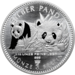 1/16 Oz Silver Panda 2016 Berlin Mint in capsule