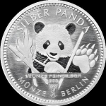 1/2 Oz Silber Panda 2017 Berlin in Kapsel