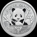 1/8 Oz Silber Panda 2017 Berlin in Kapsel