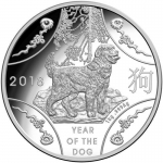 2018 $30 Year of the Dog (SII) Kilo Silver Proof