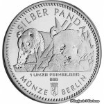 1 Oz Silber Panda 2016 Berlin in Kapsel