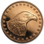 1 Unze Copper Round Eagle Head 999,99 AVDP