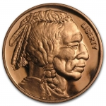 1 Unze Copper Round Indian Head Buffalo 999,99