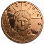 1 Unze Copper Round Liberty Head 999,99 AVDP