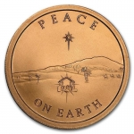 1 Unze Copper Round Peace on Earth 999,99 AVDP