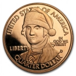 1 Unze Copper Round Santa George Washington 999,99 AVDP