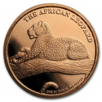1 Unze Copper Round The Silver Kruger African Leopard...