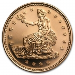 1 Unze Copper Round Trade Dollar 999,99 AVDP