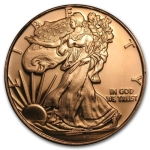1 Unze Copper Round Walking Liberty Eagle 999,99