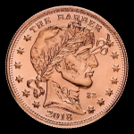 1 Unze Copper Round der Barbier - Zombucks  999,99 AVDP