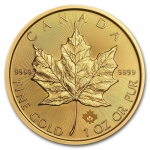 1 Unze Gold Maple Leaf Kanada 2018 BU