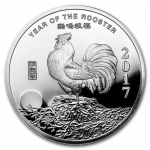 1 oz Silver Round - 2016 Year of the Rooster .999 Fine