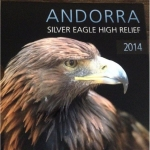 1 Unze Silber Andorra Eagle in Ultra High Relief 2014...