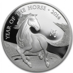 1 oz Silver United Kingdom Lunar Year of the Horse Coin...
