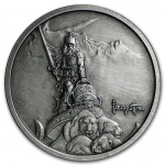 1 Unze Silber Round Frank Frazetta Silver Warrior Antique...