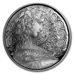 1 Unze Silber Round Mucha Collection (Ivy) Proof 999,99
