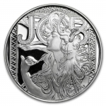 1 Unze Silber Round Mucha Collection (JOB) Proof 999,99