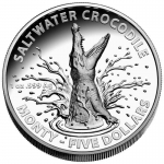 2016 $5 High Relief Croc Monty 1oz Silver Proof