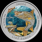 1 Unze Silber Snook Guy Harvey designed  Proof farbig...
