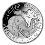 1 Unze Silber Somalia African Wildlife Elefant 2017 ANA Denver Privy Mark  2017