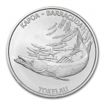 2017 Tokelau 1 oz Silver $5 Barracuda