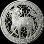 1 oz Silver Round  Lamb of God - Lamm Gottes Proof