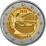 2 Euro Andorra 2016 150th anniversary of the New Reform...