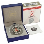 2 Euro Frankreich 2014 Welt Aids Tag Proof in Box