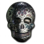 2 Unzen Silber Skull Day of the Dead  Dia de los Muertos...