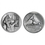 2 Unzen Ultra High Relief  Anubis Silber 999,99 Egyptian...