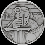 2 oz Silver Knights Templar Tempelritter Ultra High...