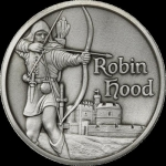 2 oz Silver Robin Hood Ultra High Relief Antique Finish...