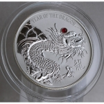 20 $ Dollar Fiji Lunar Drache 2012 Red Fire Dragon mit...