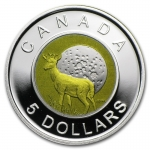 2011 Canada 1/4 Oz Silber Niob 5 CAD Full Buck Moon Proof
