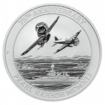 2016 Tuvalu 1 Oz Silber Pearl Harbor 2016 - 75th...