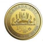 2017 1 Unze Gold Canada 150 Voyageur 150 CAD in Assay .9999