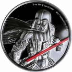 2017  Niue 2 Oz Silber Star Wars Darth Vader 5 AUD Ultra...