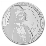 2017  Niue 1 Oz Silber Star Wars Darth Vader 2 AUD BU