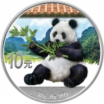 30 g Silver Chinese Panda (In Capsule) 2017 colored