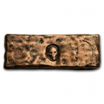 4 oz Copper Rugged Bar - MK Barz & Bullion (Skull...