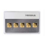 5 g Goldbarren Heraeus Multicard 999,99