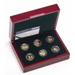 6 x 2 Euro Luxemburg 2013 - 2015 Proof Nationalhymne bis...