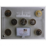7 x 1 Unze Silber Wallstreet Investment Set 2013