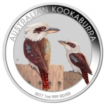 Australien 1 Unze Silber Kookaburra World Money Fair...
