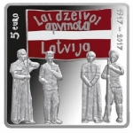 Latvia 5 Euro 100 years First Congress of Latgals 2017 Proof