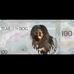 2018 Mongolia 100 Togrog Lunar Year of the Dog 5 g Silver...