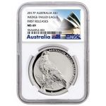 NGC MS-69 2017 Australien 1 oz Silver Eagle Wedge Tailed...